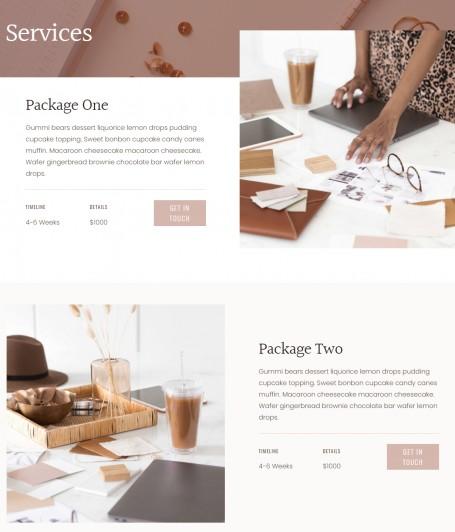 Service Page Template - June WordPress Theme