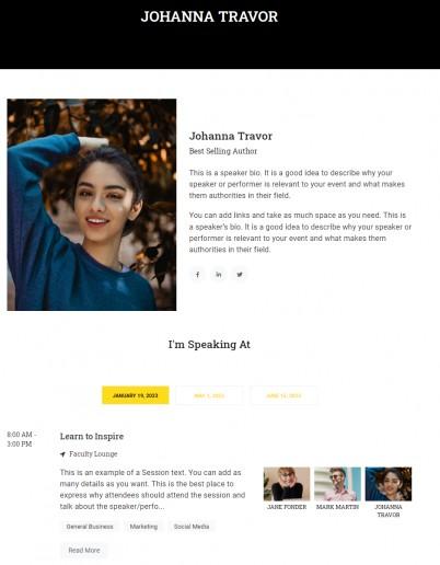 Show Pro Speakers Profile
