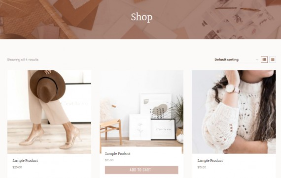 WooCommerce Shop - June WP Theme