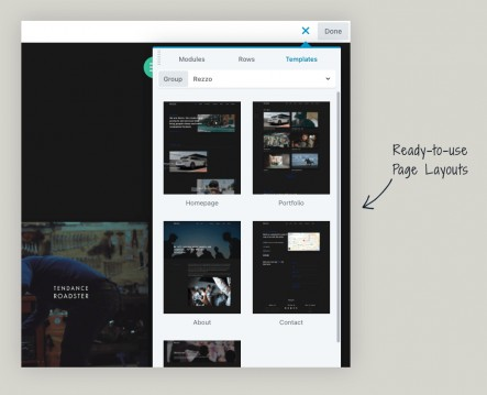 rezzo-page-layouts