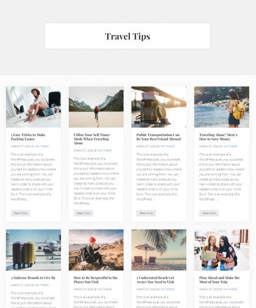 Blog Archive Settings - Mai Delight WordPress Theme