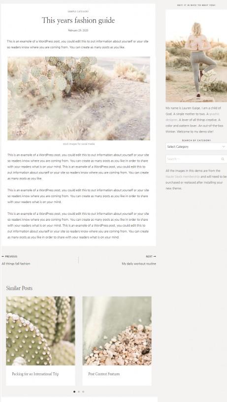 Blog Post - Elizabeth WordPress Theme