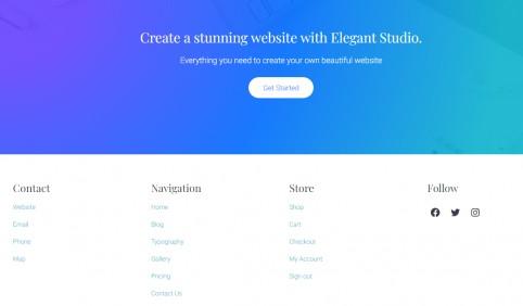 Footer Widget Area - Mai Studio WordPress Theme