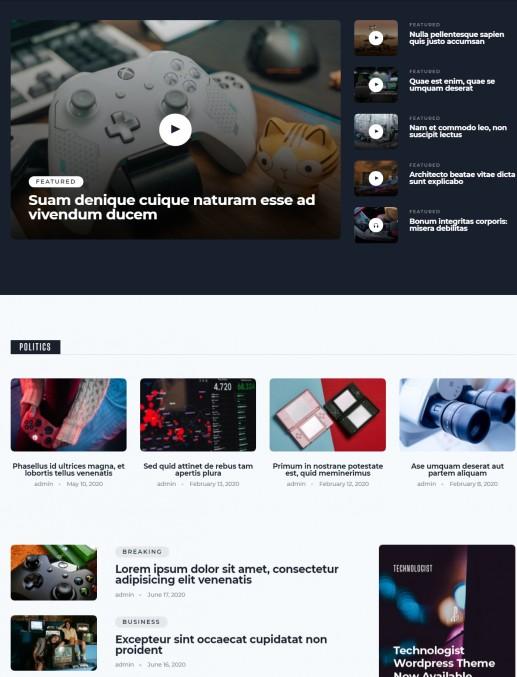 Frontpage Blog Layouts - TechnologistMyThemeShop