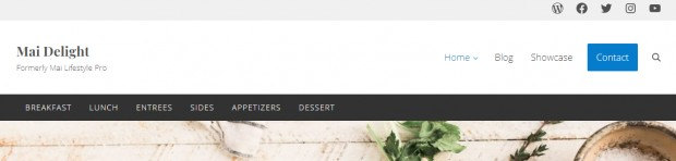 Header Menu Options - Mai Delight Blogging Theme