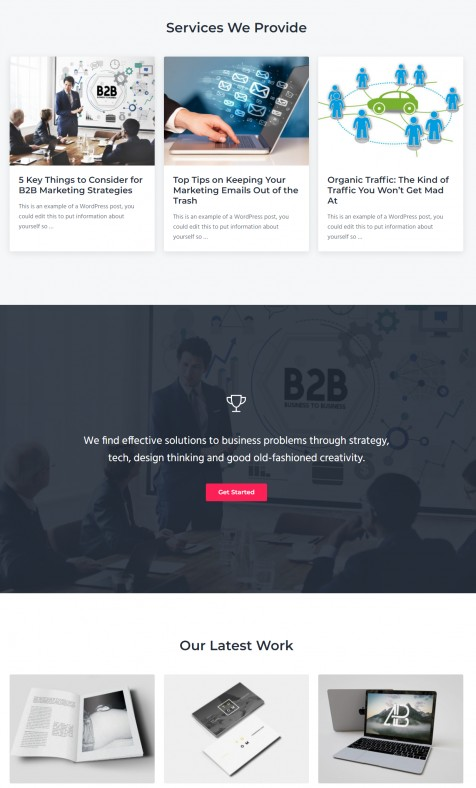 Homepage Sections - Mai Success Genesis Agency Theme