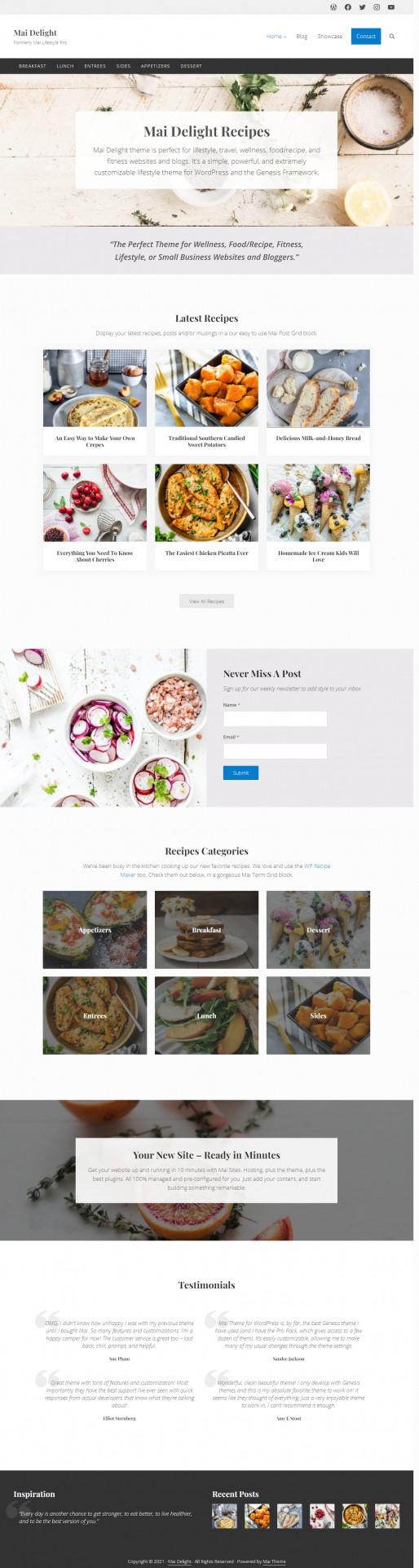 Mai Delight Demo StudioPress – Formerly Mai Lifestyle Pro