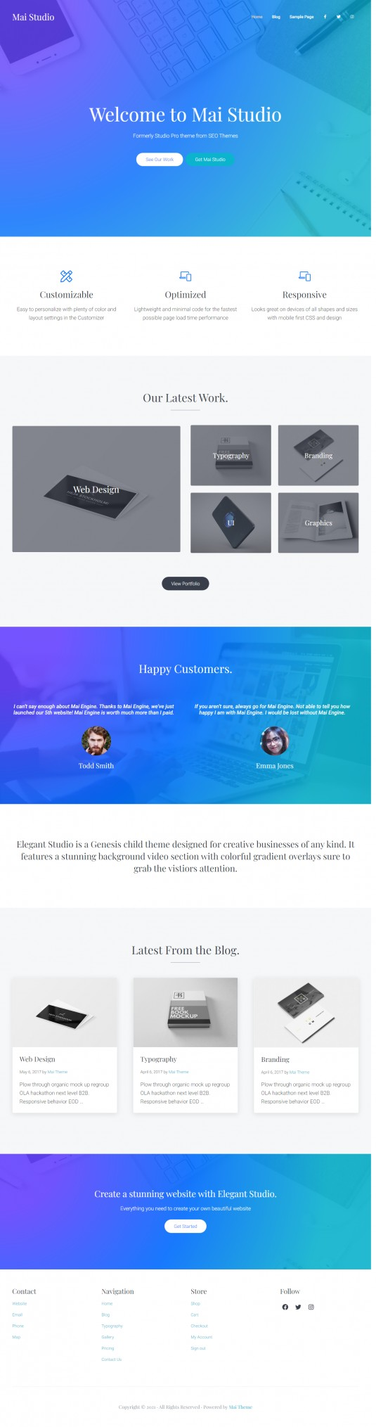 Mai Studio Theme Review by StudioPress - Best Business Theme