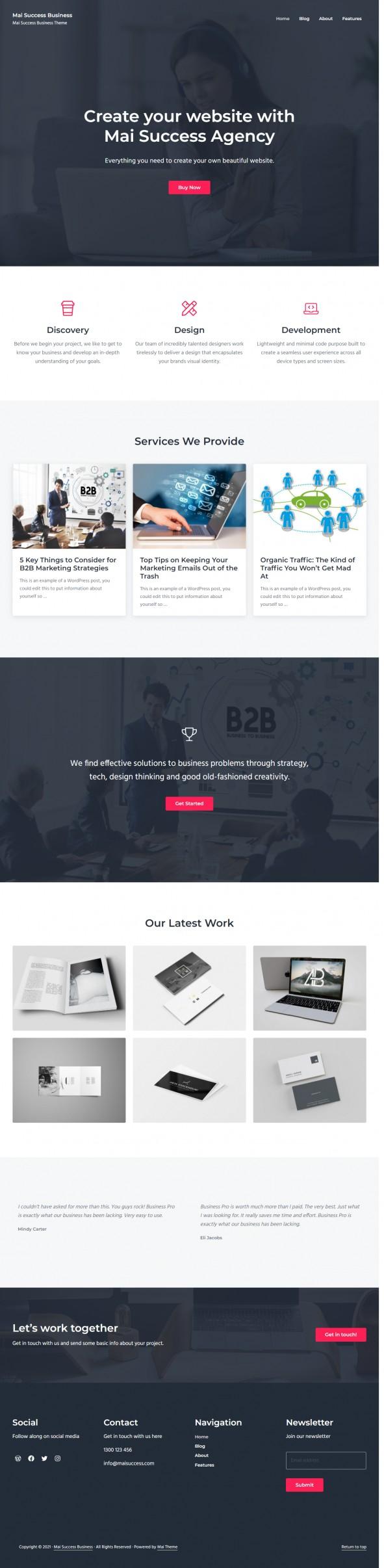Mai Success Business Theme Demo - StudioPress for Genesis