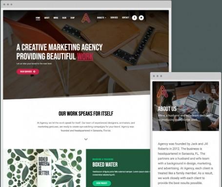 Responsive Business WordPress Theme - Agency
