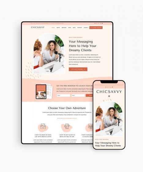 ChicSavvy Demo - BluChic WordPress Business Theme